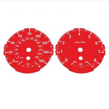 BMW E82 E87 135i 160 MPH + km/h Red - Standard - 1