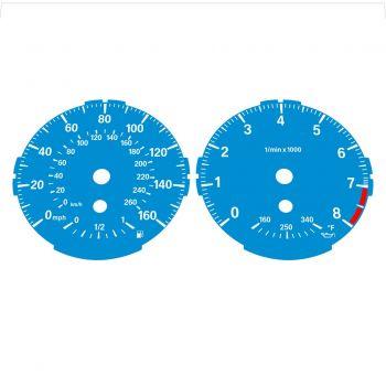 BMW E82 E87 135i 160 MPH + km/h Blue - Standard - 1