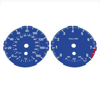 BMW E82 E87 135i 160 MPH + km/h Dark Blue - Standard - 1