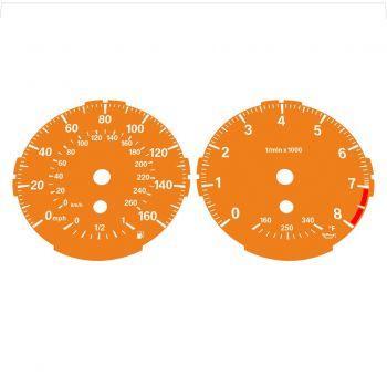 BMW E82 E87 135i 160 MPH + km/h Orange - Standard - 1