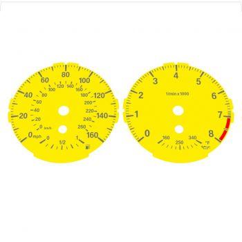 BMW E82 E87 135i 160 MPH + km/h Yellow - Standard - 1