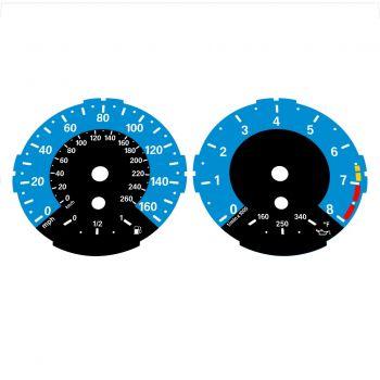 BMW E82 E87 135i 160 MPH + km/h Blue - 1M Style - 1