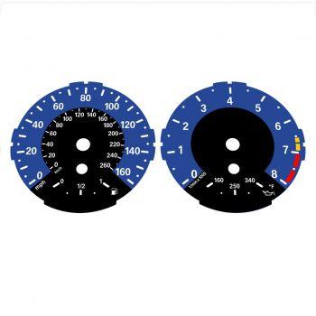 BMW E82 E87 135i 160 MPH + km/h Dark Blue - 1M Style - 1