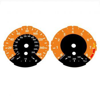 BMW E82 E87 135i 160 MPH + km/h Orange - 1M Style - 1