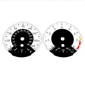 BMW E82 E87 135i 160 MPH + km/h White - 1M Style - 1