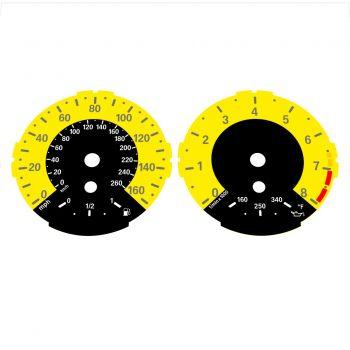 BMW E82 E87 135i 160 MPH + km/h Yellow - 1M Style - 1