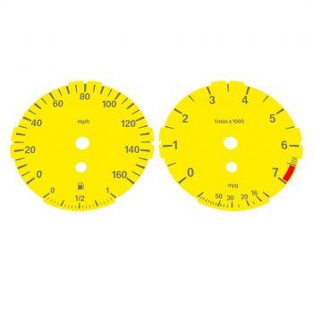 BMW E90 E92 320i 325i 328i 330i LOW Yellow - 1