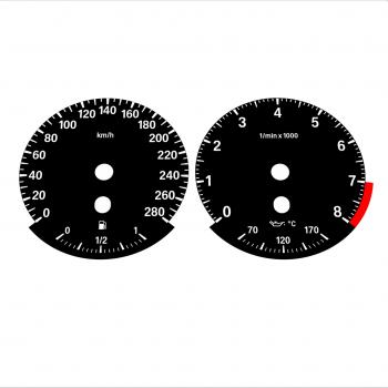 BMW E90 E92 335i 280 KM/H Black - Standard - 49