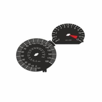 BMW K1300 R MPH+KM/H Black