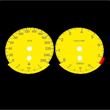 BMW E90 320i 325i 328i 330i KMH HIGH Yellow - 2