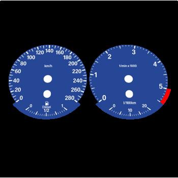 BMW E90 320d 325d 330d 335d KMH HIGH Dark Blue - 1