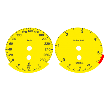 BMW E90 320d 325d 330d 335d KMH HIGH Yellow - 1